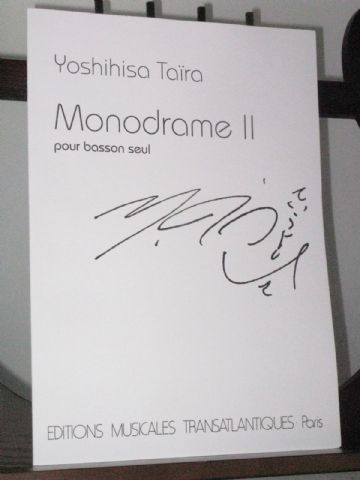 Taira Y - Monodrame 2 for Solo Bassoon